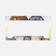 The knitwear cat sisters License Plate Holder