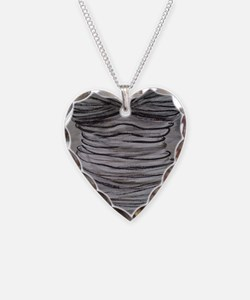 Marilyn's Bust Necklace Heart Charm