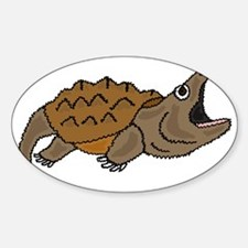 Funky Snapping Turtle Sticker (Oval)