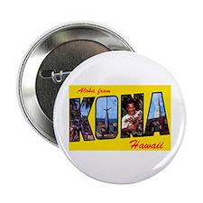 "Kona Hawaii Greetings 2.25"" Button (10 pack)"