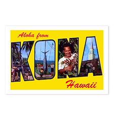 Kona Hawaii Greetings Postcards (Package of 8)