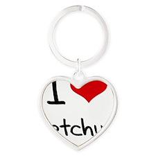 I Love Ketchup Heart Keychain