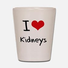I Love Kidneys Shot Glass