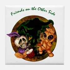 Friends on the Other Side Tile Coaster