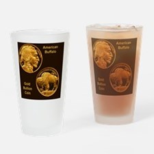 American Buffalo Gold Bullion 50 Do Drinking Glass