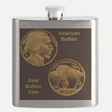 American Buffalo Gold Bullion 50 Dollar Coin Flask
