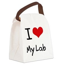 I Love My Lab Canvas Lunch Bag