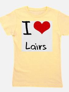 I Love Lairs Girl's Tee