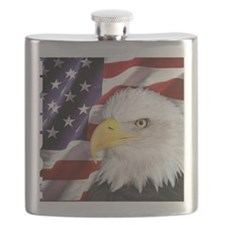 Freedom Flag & Eagle Flask