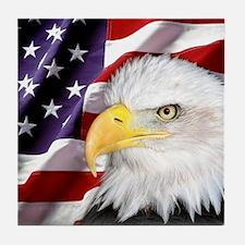 Freedom Flag & Eagle Tile Coaster