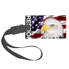 Freedom Flag & Eagle Luggage Tag