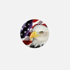 Freedom Flag & Eagle Mini Button