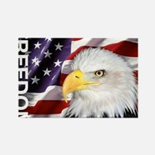 Freedom Flag & Eagle Rectangle Magnet