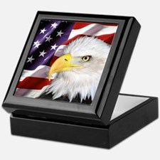 Freedom Flag & Eagle Keepsake Box