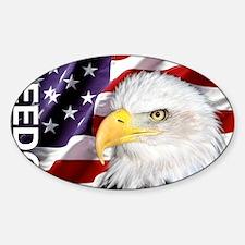 Freedom Flag & Eagle Decal