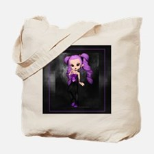Purple Punk Cookie Girl Tote Bag