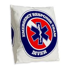 ERT Diver 1 Burlap Throw Pillow
