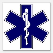 """EMT logo Square Car Magnet 3"""" x 3"""""""