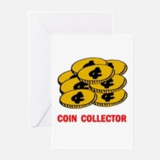 COIN COLLECTOR Greeting Cards (Pk of 10)