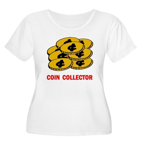 COIN COLLECTOR Women's Plus Size Scoop Neck T-Shir