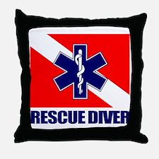 Rescue Diver (emt) Throw Pillow