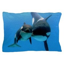 Orca With Calf Pillow Case