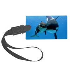 Orca With Calf Luggage Tag
