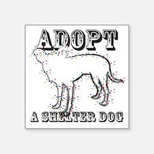 "Zuni-Adopt A Shelter Dog Square Sticker 3"" x 3"""