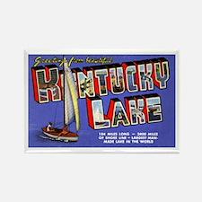 Kentucky Lake Greetings Rectangle Magnet