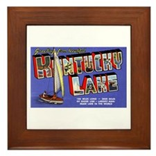 Kentucky Lake Greetings Framed Tile