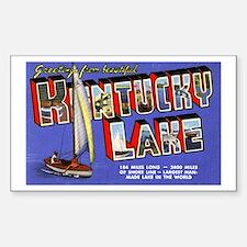 Kentucky Lake Greetings Rectangle Decal