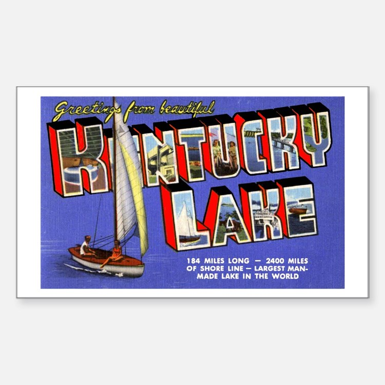 Kentucky Lake Greetings Rectangle Decal