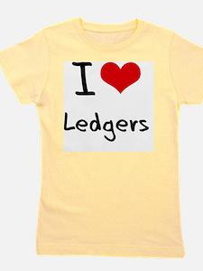 I Love Ledgers Girl's Tee