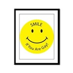 Smile If You are Gay (Smiley Face) Framed Panel Pr