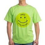 Smile If You are Gay (Smiley Face) Green T-Shirt