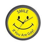 Smile If You are Gay (Smiley Face) Wall Clock