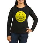 Smile If You are Gay (Smiley Face) Women's Long Sl