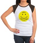Smile If You are Gay (Smiley Face) Women's Cap Sle