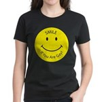 Smile If You are Gay (Smiley Face) Women's Dark T-