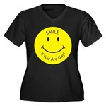 Smile If You are Gay (Smiley Face) Women's Plus Si