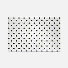 Navy Blue Polka Dot D1 Rectangle Magnet