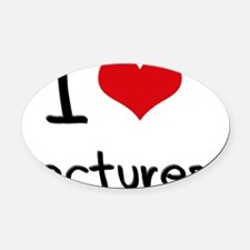 I Love Lectures Oval Car Magnet