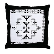 Cheyenne Motifs Throw Pillow