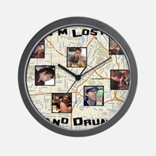 Lost and Drunk Wall Clock