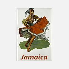 Vintage Jamaica Travel Rectangle Magnet