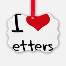 I Love Letters Ornament