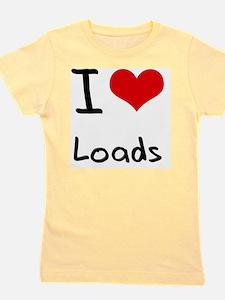 I Love Loads Girl's Tee