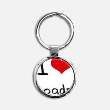 I Love Loads Round Keychain