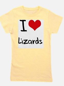 I Love Lizards Girl's Tee