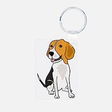 Funny Beagle Puppy Dog Car Aluminum Photo Keychain